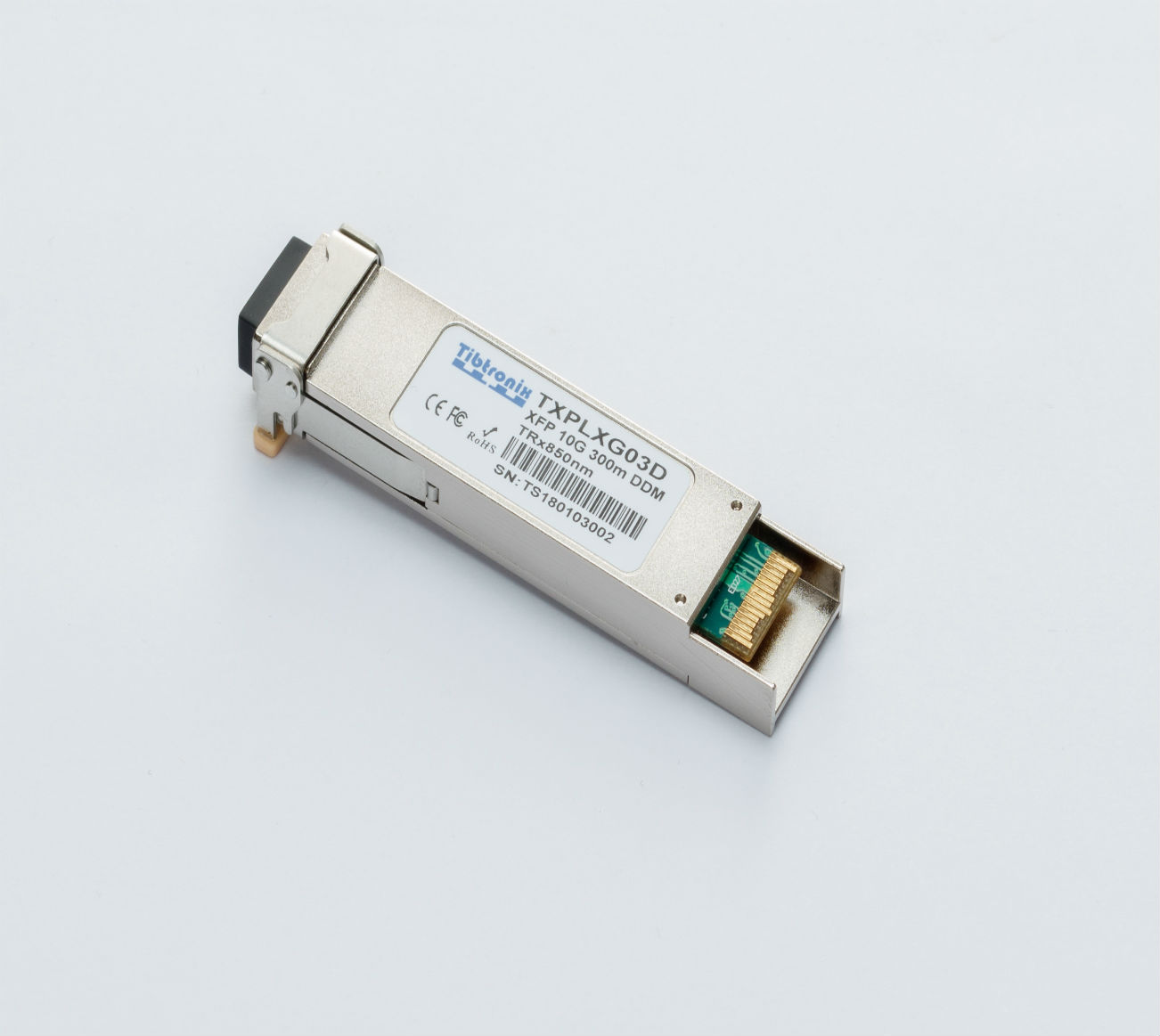 10GBASE-SR XFP 850nm 300m DDM Transceiver10G XFP Tunable